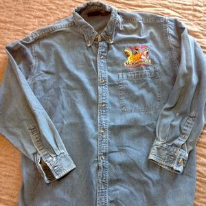 MARGARITVILLE LONG SLEEVE DENIM SHIRT